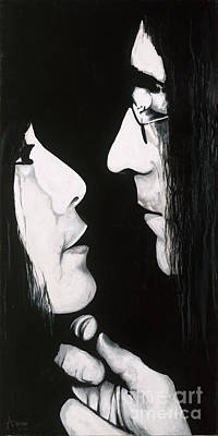 Poster featuring the painting Lennon And Yoko by Ashley Price