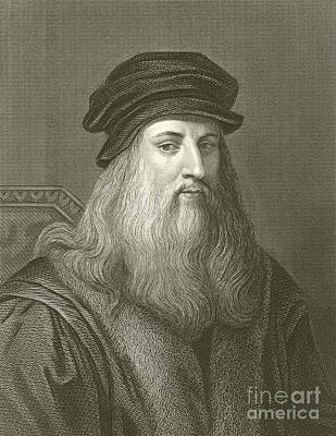 Leonardo Da Vinci Poster by English School