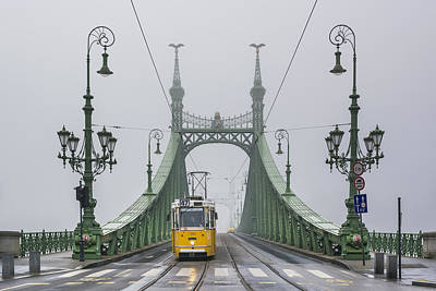 Liberty Bridge Budapest Hungary Poster by Ayhan Altun
