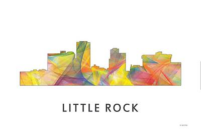 Little Rock Arkansas Skyline Poster by Marlene Watson