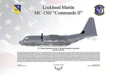 Lockheed Mc-130j Commando II Poster