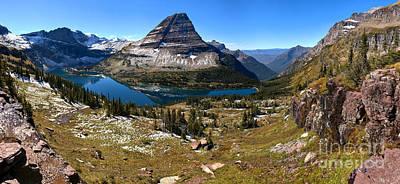 Logan Pass Hidden Lake Panorama Poster