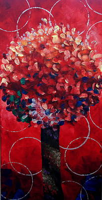 Lollipop Tree Red Poster