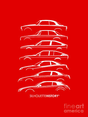 Lombard Coupe Silhouettehistory Poster by Gabor Vida