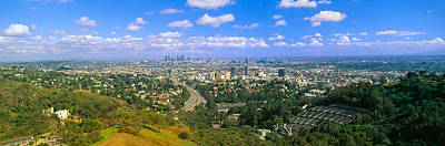 Los Angeles Skyline From Mulholland Poster