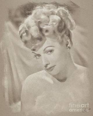 Lucille Ball Vintage Hollywood Actress Poster