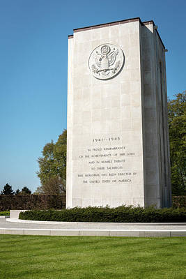 Luxembourg American Cemetery  And Memorial - Luxembourg City  Luxembourg Poster