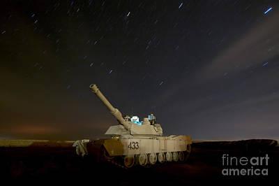 M1 Abrams Tank At Camp Warhorse Poster