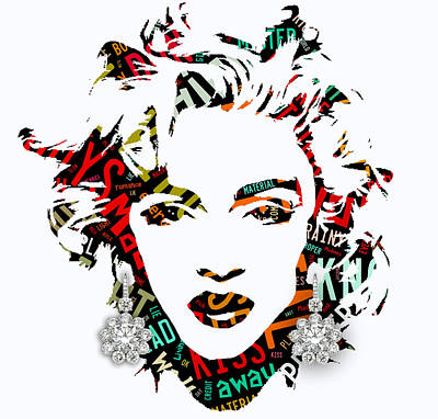 Madonna Material Girl Song Lyrics Poster by Marvin Blaine