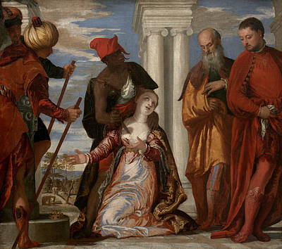 Martyrdom Of Saint Justina Poster by Paolo Veronese