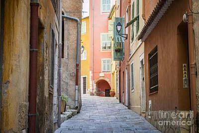 Medieval Street In Villefranche-sur-mer Poster