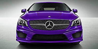 Mercedes Cla Class Coupe Collection Poster