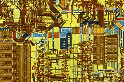 Microprocessor Poster by Michael W. Davidson