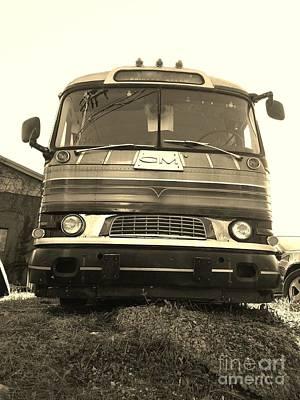 Mid Century Gm Greyhound Bus Poster