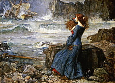 Miranda - The Tempest Poster by John William Waterhouse