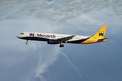 Monarch Airlines Airbus A321-231 Poster