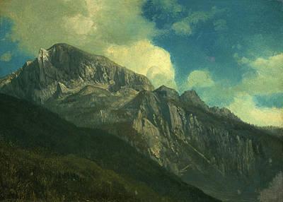 Mountains Poster by Albert Bierstadt