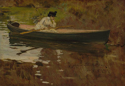 Mrs. Chase In Prospect Park Poster by William Merritt Chase