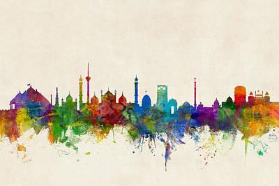 New Delhi India Skyline Poster by Michael Tompsett