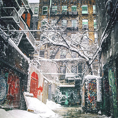 New York City Snow Poster by Vivienne Gucwa