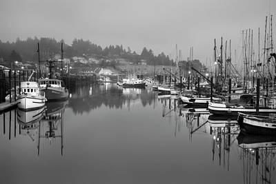 Newport Fishing Boats Poster by Jon Glaser