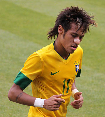 Neymar Junior Poster by Lee Dos Santos