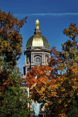 Notre Dame's Golden Dome Poster