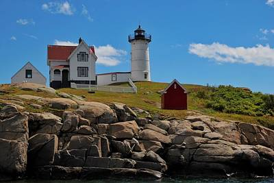 Nubble Lighthouse Poster by Luisa Azzolini