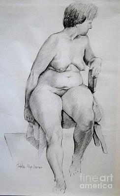 Nude Study Poster by Jukka Nopsanen