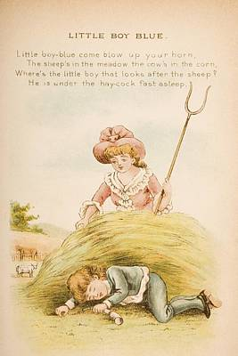Nursery Rhyme And Illustration Of Poster by Vintage Design Pics