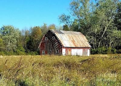 Old Barn In The Meadow Poster by Scott D Van Osdol