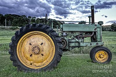 Old John Deere Tractor Poster