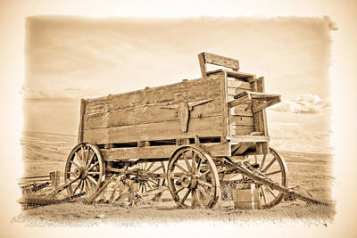 Old West Wagon  Poster by Steve McKinzie