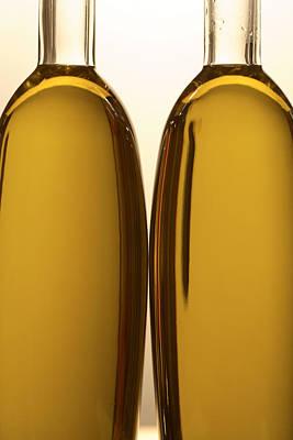 2 Olive Oil Bottles Poster