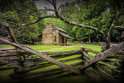 Oliver Cabin In Cade's Cove Poster by Randall Nyhof