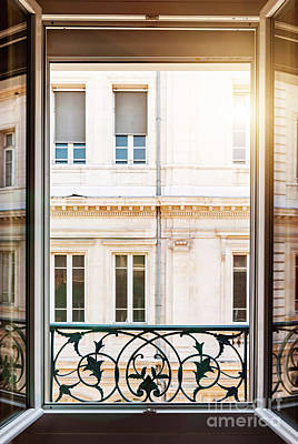 Open Window In Toulouse Poster