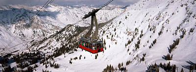 Overhead Cable Car In A Ski Resort Poster by Panoramic Images