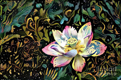 Paisley Waterlily Poster by Amy Cicconi