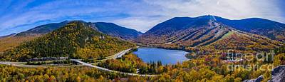 Panoramic View Of Franconia Notch. Poster