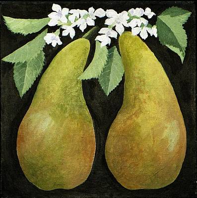 Pears Poster by Jennifer Abbot