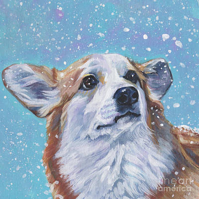 Poster featuring the painting Pembroke Welsh Corgi by Lee Ann Shepard