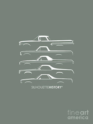 Pickupino Silhouettehistory Poster by Gabor Vida