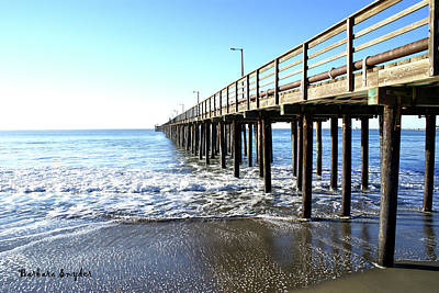 Pier At Avila Beach California Poster by Barbara Snyder