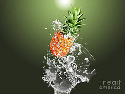 Pineapple Splash Poster