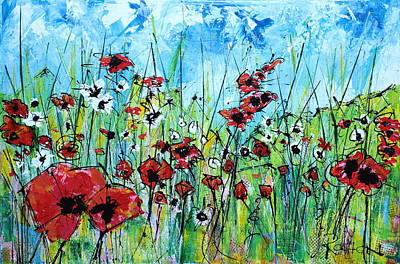 Poppies Poster by Louie Rochon