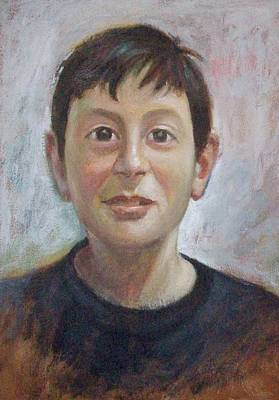 Portrait Of A Boy Poster by George Siaba