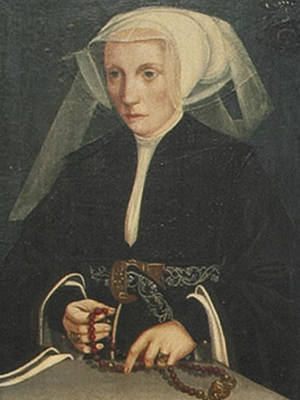 Portrait Of A Lady Holding A Rosary Poster