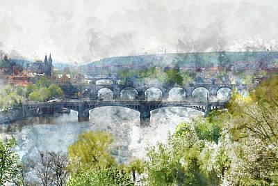 Prague Czech Republic Poster by Brandon Bourdages