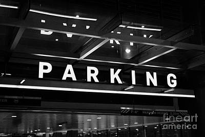 public multi level car park parkade in downtown Vancouver BC Canada Poster