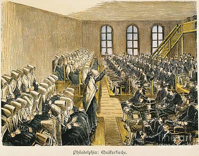 Quaker Meeting Poster by Granger